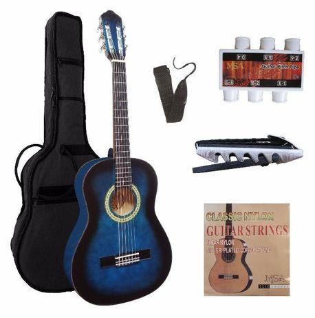 Conjunto 'clássico' guitarra clássica 1/2, 3/4 e 4/4 - NOVO