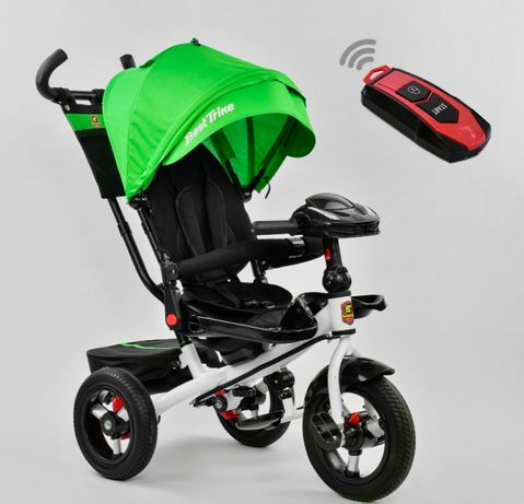 Трёхколёсный велосипед детский, Положение лежа, +Фара, колёса надувные