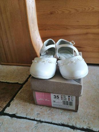 buty białe- komunia