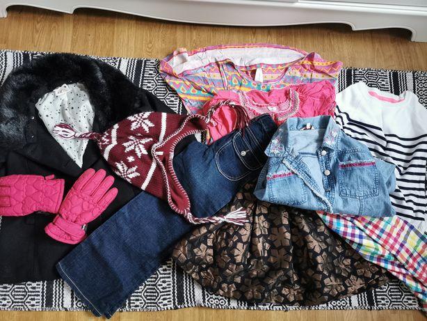 Ubranka dla dziewczynki 116, 128, zestaw 10 szt