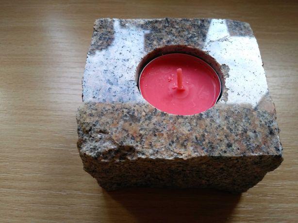 Kamienny świecznik na tealighty