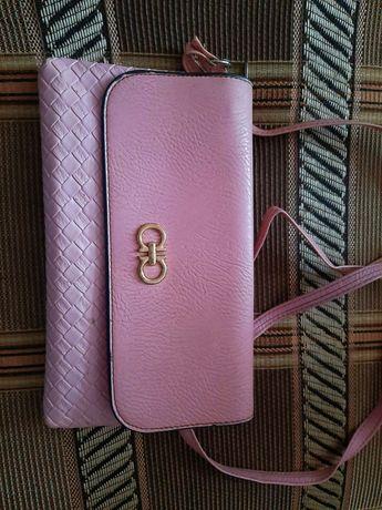 Сумка-клатч женская розовая