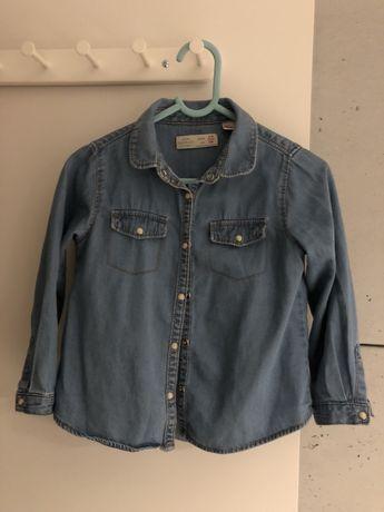 Koszula zara jeansowa r. 104 stan idealny