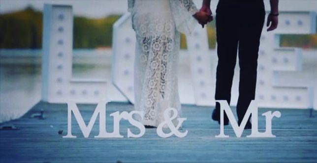Napis weselny Mrs & Mr