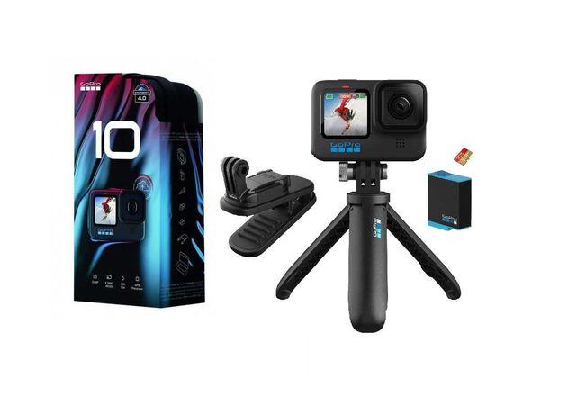 Nowa kamera GOPRO HERO 10 BLACK Bundle BAT Karta 2 uchwyty od ręki