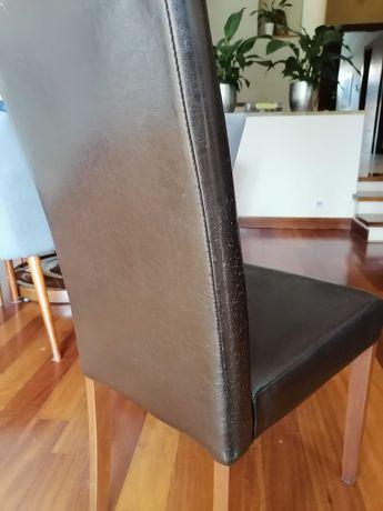 Krzesło czarne imitacja skóry