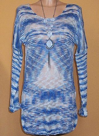 Sweter tunika ażurowa cieniowana marki RED LABEL r 38/40