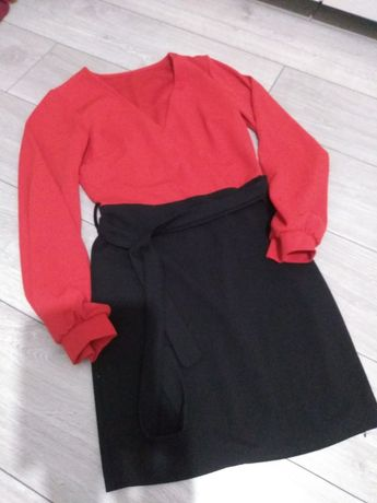 Sukienka S/M czerwono - czarna