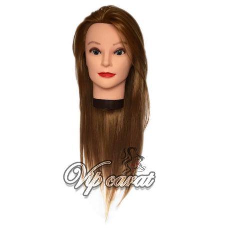 Учебная голова манекен для причесок термо волосы для парикмахера