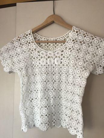 Przepiękna bluzka z gipiury