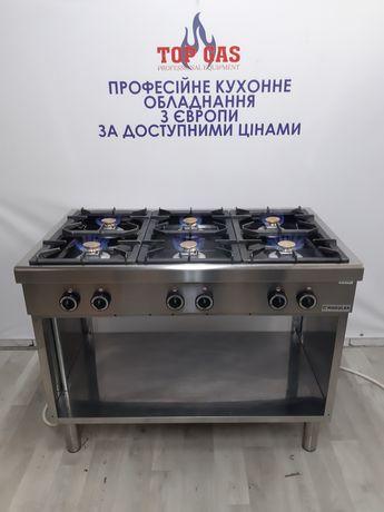 Професійна Промислова  газова плита 6 канфорок 110см