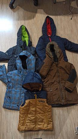 Mega paka zimowe kurtki 110 chlopiece
