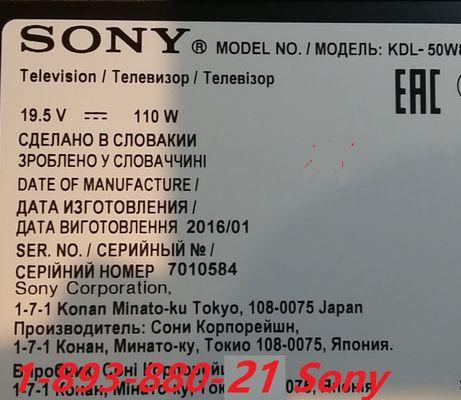 Sony KDL-50W805C'/809C/43W805C;1-893-880-21;Main;T-con T550HVN08.2