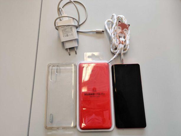 Huawei P30 Pro 8GB/128GB DS Vermelho Ámbar com capas e carregador