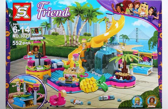 Klocki XS jakości lego Friends basen