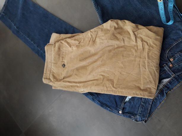 Spodnie sztruksowe 34