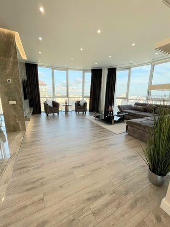 Апартаменты люкс, вид на Днепр с 22эт, панорамные окна!