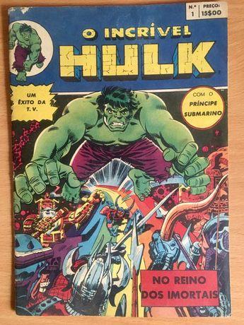 O Incrível Hulk nº1 - revista BD 1980 banda desenhada
