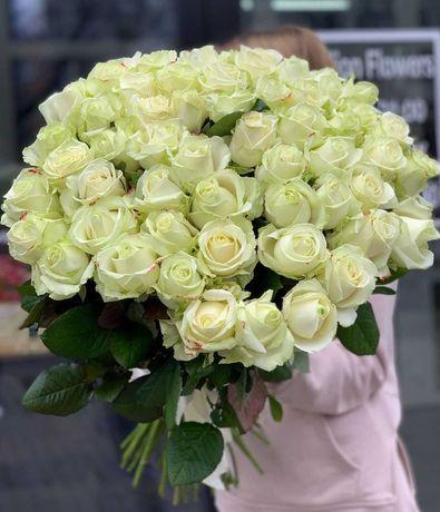Розы, доставка цветов. Шикарный букет 35 роз. Цветы Днепр, подарок