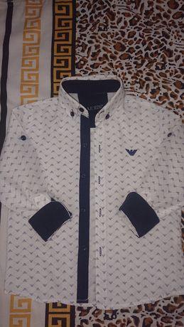 Шикарная качественная рубашка рубашечка сорочка Armani Jeans 4-5 лет