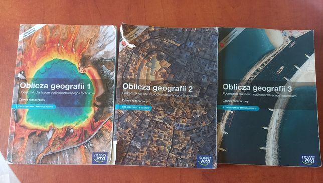 Książki do geografii rozszerzonej do matury Oblicza geografii 3 części