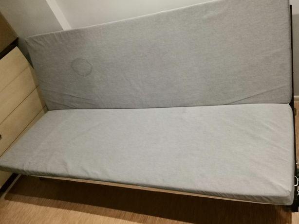 Sofa rozkładana z ikea, funkcja spania. Zdejmowany pokrowiec
