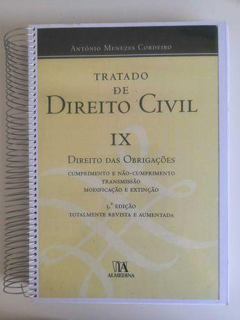 Tratado de Direito Civil, IX, Menezes Cordeito, Direito das Obrigações