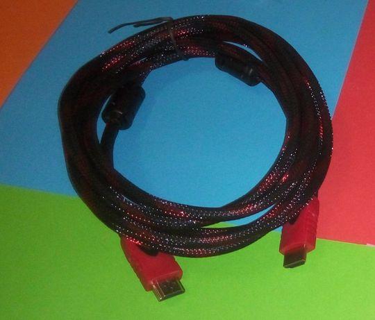 Кабель HDMI - HDMI Усиленный в Оплетке Фильтры Ферриты v 1.4 Шнур 3м