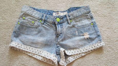 szorty jeansowe spodenki jeans roz s