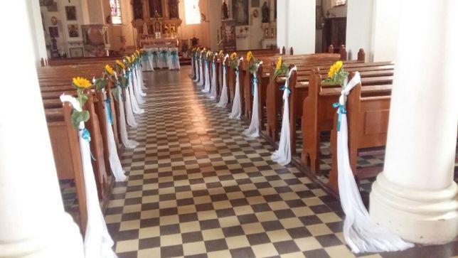 Wystrój dekoracja kościoła ślub
