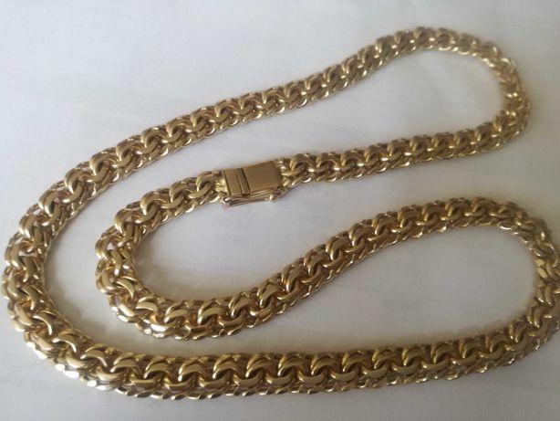 Łańcuszek łańcuch złoty Galibardi.Próba-585..Szlifowany,piękny.