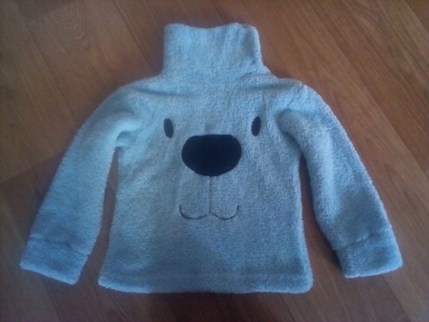 Гольф свитер тёплый махровый с горлом на кнопках