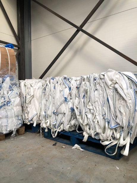 czyste worki big bag bigbagi na zboże ziarno pszenice z lejami 500 kg