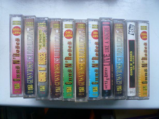 wyprzedaż kolekci kaset magnetof. audio Guns'N'Roses