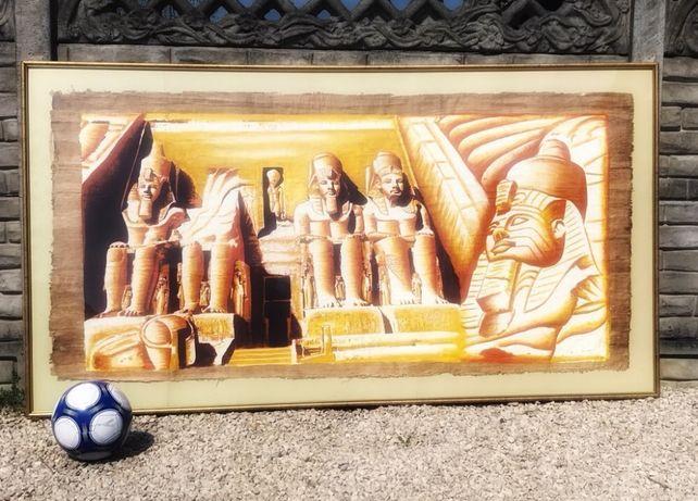 Ogromny 215 cm x 120 cm papirus przywieziony z Egiptu
