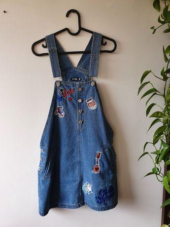 Sukienka jeansowa ogridniczki