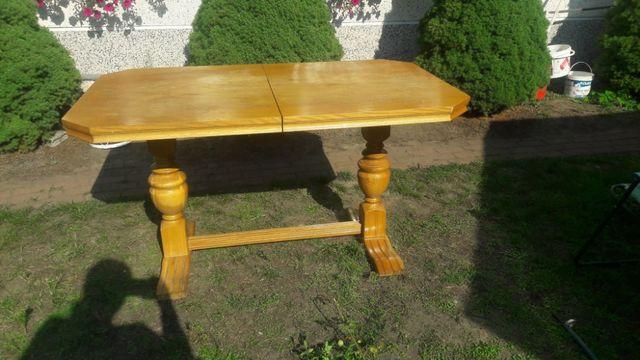 Stół i 6 krzeseł drewnianych- dębowe