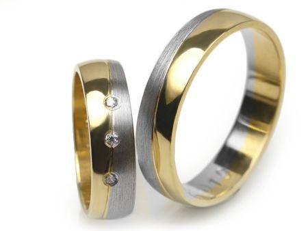 Złote obrączki 585 E019 - Jubiler Goldrun Chorzów