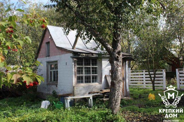 Продам 8 соток сада, и кирпичный домик в черте города.