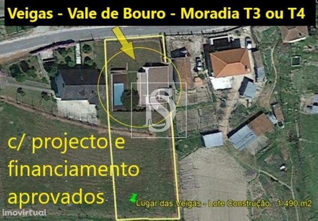 Lote Construção Moradia T3 ou T4 - Vale de Bouro