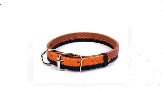 Ошейник Collar двойной с элем.ЗигЗаг (25мм/32-40 см)