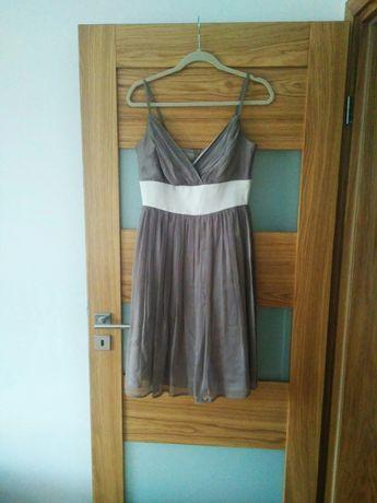 Beżowa sukienka, rozmiar 38