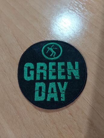 Emblema / Patch dos Green Day verde e preto