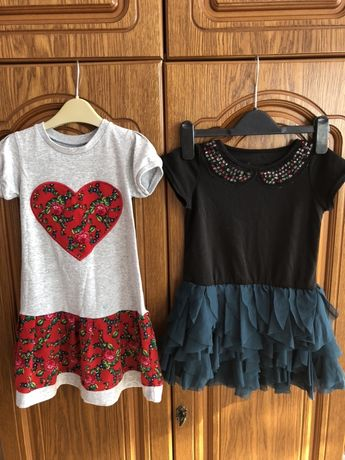 Sukienki 2 szt dla dziewczynki 104-108