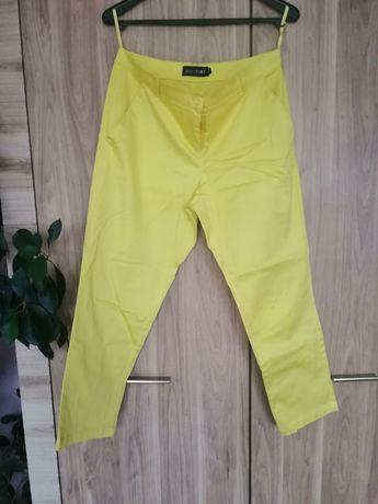 Bon prix limonkowe spodnie