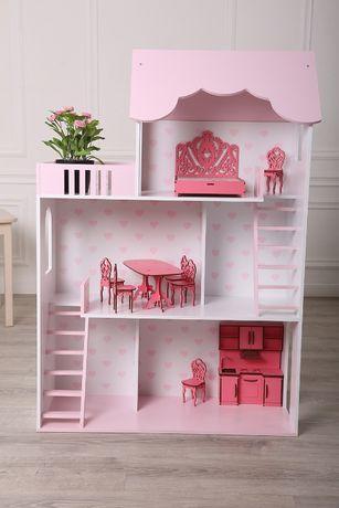 Большой кукольный дом домик для кукол Ляльковий дім будинок