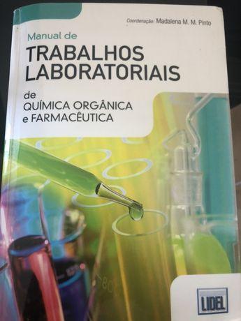 Manual de trabalhos laboratoriais de quimica orgânica e farmacêutica