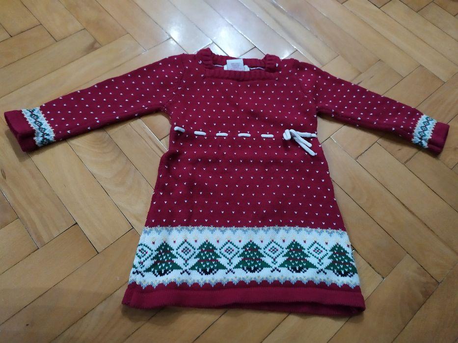 Zimowa sukienka da dziewczynki rozmiar 80, 12m Starachowice - image 1