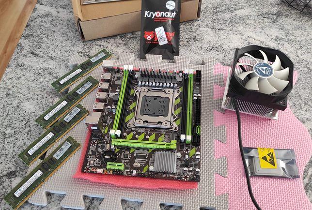 Zestaw: Płyta główna x79, procesor xeon 6rdzeni,16Gb ram