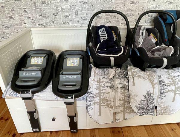 Fotelik Foteliki dla noworodkòw z bazą bliźniaki Maxi Cosi GRATISY